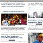 La web de Marca, con toda una columna tachada
