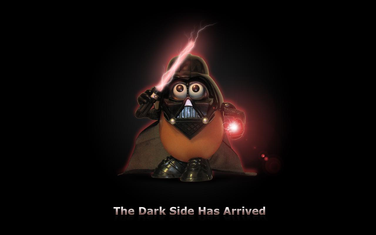 Fondo de Pantalla de Mister Potato Darh Vader