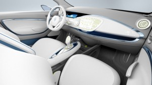 Interior de coche eléctrico