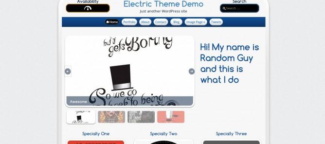 Electric, tema de WordPress por Carlos Morales