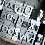 Letras de una tipografía