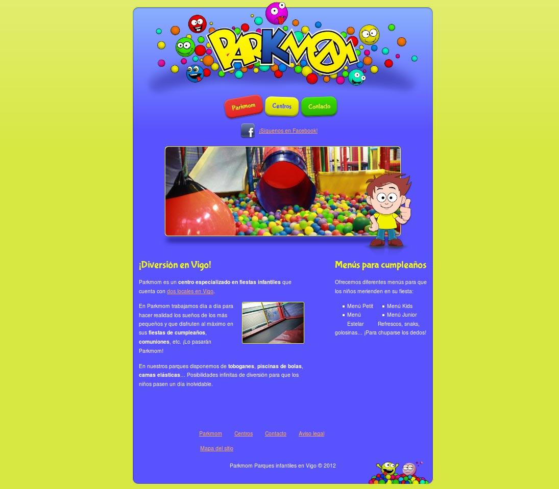 Diseño de la página web de Parkmom