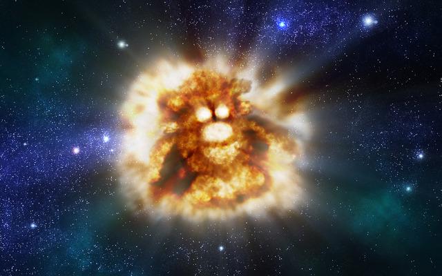 Explosión espacial con forma de Mister Potato.