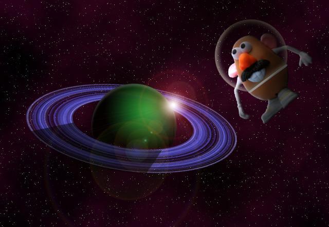 Mister Potato en el espacio