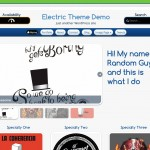 Electric, tema de WordPress por Carlos Morales